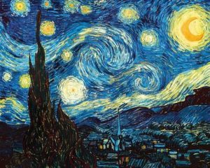 ریتم در هنرهای تجسمی نام اثر شب پر ستاره